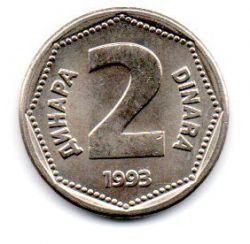 Iugoslávia - 1993 - 2 Dinara - Sob/Fc