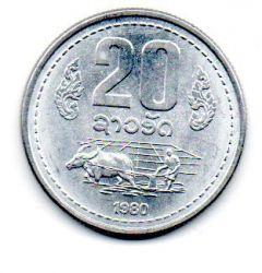 Laos - 1980 - 20 Att - Sob/Fc
