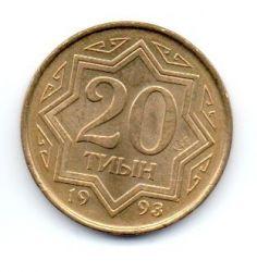 Cazaquistão - 1993 - 20 Tyin - Sob/Fc