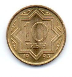 Cazaquistão - 1993 - 10 Tyin - Sob/Fc