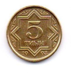 Cazaquistão - 1993 - 5 Tyin - Sob/Fc