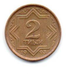 Cazaquistão - 1993 - 2 Tyin - Sob/Fc