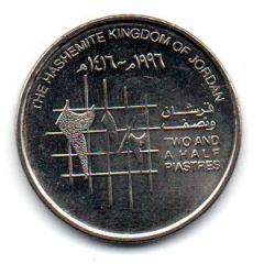 Jordânia - 1996 - 2½ Piastres - Sob/Fc