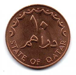 Qatar - 1972 - 10 Dirhams - Sob/Fc