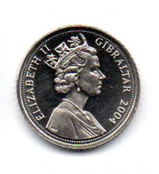 Gibraltar - 2004 - 5 Pence - Sob/Fc