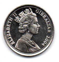 Gibraltar - 2004 - 10 Pence - Sob/Fc