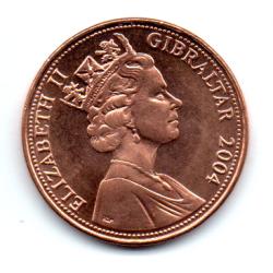Gibraltar - 2004 - 2 Pence- Sob/fc