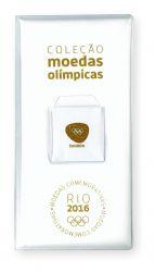 Estojo Vazio p/ 17 Moedas Das Olimpíadas Rio 2016 - Branco - Modelo 2