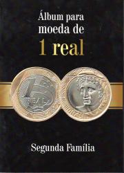 Álbum para Moeda de 1 Real - Segunda Família