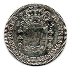 1809 - 640 Réis - Prata - Moeda Brasil Colônia