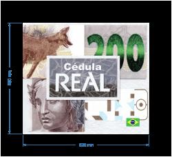 Folder para Cédula de 200 Reais - (NÃO INCLUSO CÉDULA)