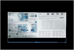 Folder para Cédula de 100 Reais 2ª Família - NÃO INCLUSO CÉDULA)