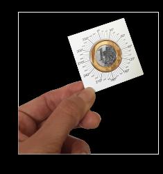 10 Coin Holders Autocolante Angular 27,5mm - (Obs.: 1 pacote com 10un.) - Marca Organizer