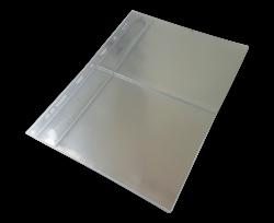 10 Folhas de 2 Espaços p/ Cédulas  - Cabem Etiquetas - Marca PCCB  - Transparente