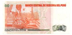 Peru - 50 Intis - Sob/fe