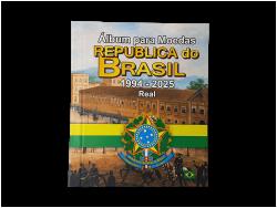 Álbum para Moedas Republica do Brasil 1994-2025 Real - Vazio