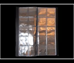 Pasta p/ 100 Moedas - 10 Plásticos de 10 Espaços cada - Com aba