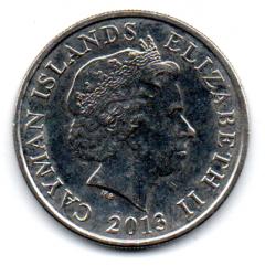 Ilhas Cayman - 2013 - 25 Cents