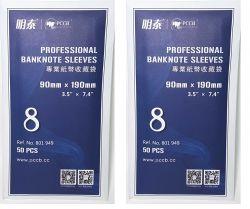 100 unidades de Envelopes Plástico Profissional P/ Cédula 9x19cm (2 Pacotes de 50un)