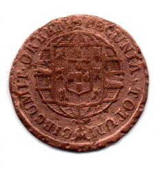 1819R - X Réis - ERRO: Cunhagem Deslocada do Reverso - Moeda Brasil Reino