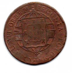 1821R - XL Réis - Moeda Brasil Reino