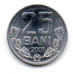 Moldávia - 2001 - 25 Bani - Sob/Fc