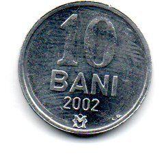 Moldávia - 2002 - 10 Bani - Sob/Fc