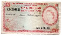 Territórios Britânicos do Caribe - 1 Dollar - UTG