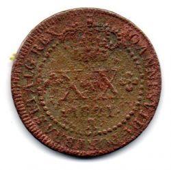 1821R - XX Réis - Moeda Brasil Reino