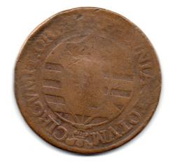 1762B - XL Réis C/ Carimbo de Escudete - Moeda Brasil Colônia