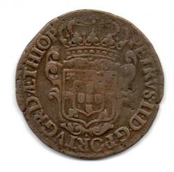 1694 - PPPP - XX Réis - Casa da  Moeda do Porto - Cunhada para Angola - Mandadas para Circular no Brasil - Moeda Brasil Colônia - C/ Verniz