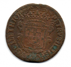 1697 - PPPP - XX Réis - Casa da  Moeda do Porto - Cunhada para Angola - Mandadas para Circular no Brasil - Moeda Brasil Colônia