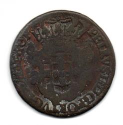 1699 - PPPP - XX Réis - Casa da  Moeda do Porto - Cunhada para Angola - Mandadas para Circular no Brasil - Moeda Brasil Colônia