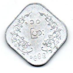 Myanmar - 10 Pyas (Aung San) - 1966