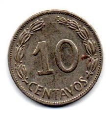 Equador -1964 -  10 Centavos