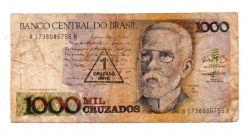C199 - 1 Cruzado Novo (Carimbo sobre 1000 Cruzados) - Machado de Assis - Data: 1989 - Estado de Conservação: Regular (R)