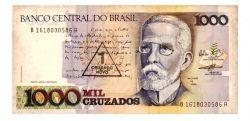 C199 - 1 Cruzado Novo (Carimbo sobre 1000 Cruzados) - Machado de Assis - Data: 1989 - Estado de Conservação: MBC/Sob