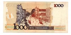 C197 - 1 Cruzado Novo (Carimbo sob 1000 Cruzados) - Machado de Assis - Data: 1989 - Estado de Conservação: MBC/Sob