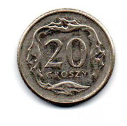 Polônia - 2015 - 20 Groszy