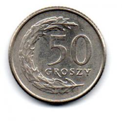 Polônia - 1991 - 50 Groszy