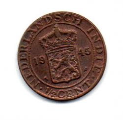 Índias Orientais Holandesas - 1945 - 1/2 Cent
