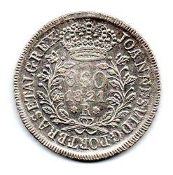 1821R - 960 Réis - Prata - Patacão - Moeda Brasil Reino