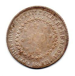 1825R - 960 Réis - Prata - Patacão - Moeda Brasil Império