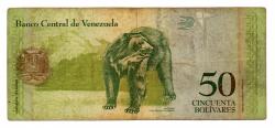 Venezuela - 50 Bolívares - Cédula Estrangeira - Mbc