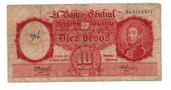 Argentina - 10 Pesos - Cédula Estrangeira - UTG