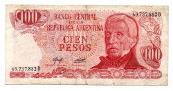 Argentina - 100 Pesos - Cédula Estrangeira - Bc