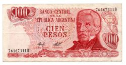Argentina - 100 Pesos - Cédula Estrangeira - MBC