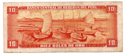 Peru - 10 Soles - Cédula Estrangeira