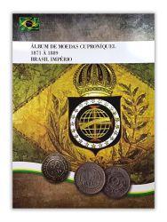 Álbum p/ Moedas Cuproníquel 1871 à 1889 Brasil Império - Vazio