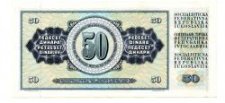 Iugoslávia - 50 Dinara - Cédula Estrangeira